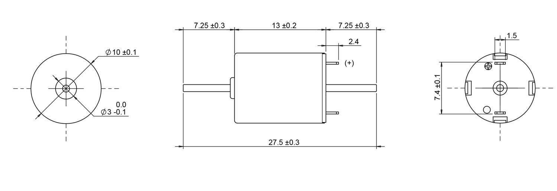 10*13mm coreless motor