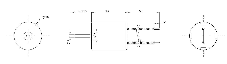 1013 coreless motor drawing