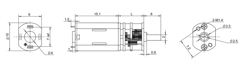 10mm metal gear motor
