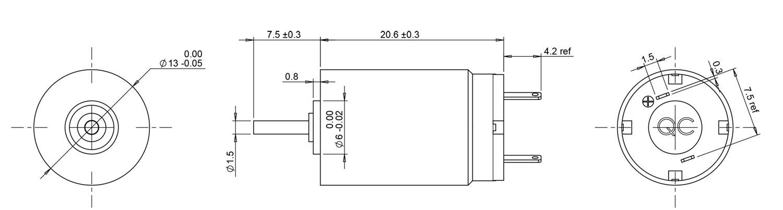 1320 coreless dc motor