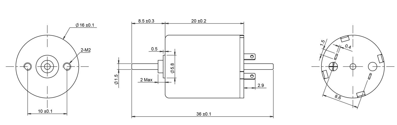 1620 coreless motor drawing
