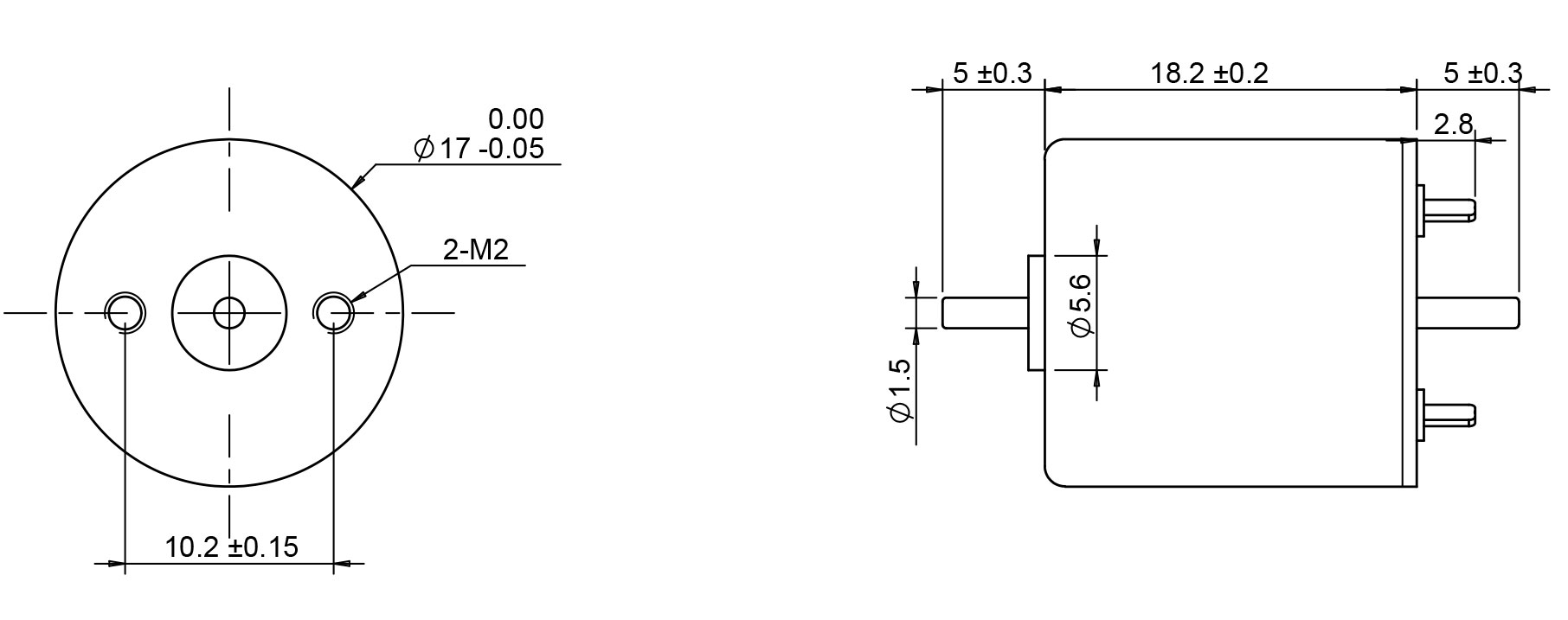 1718 motor drwaing