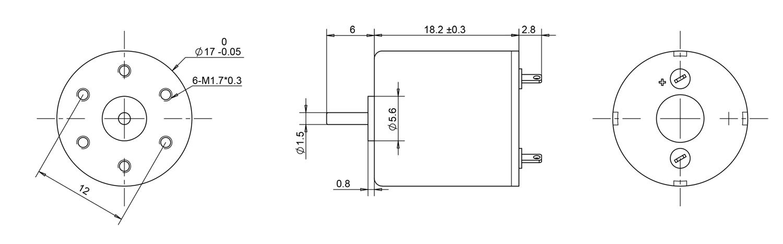 1718 coreless motors