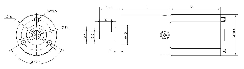 20mm planetary gear motor drawing