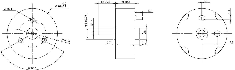 coreless motor 2610