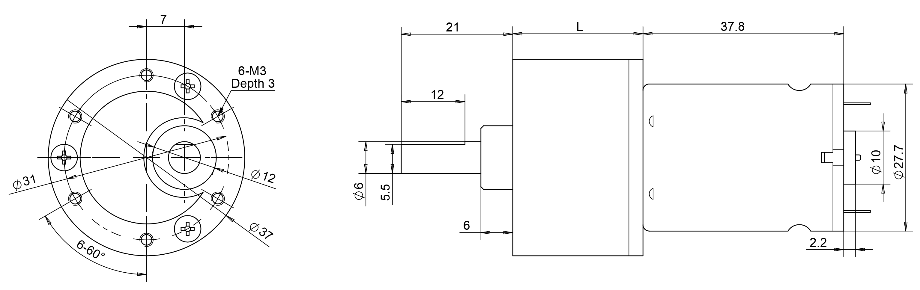 drawing of motor