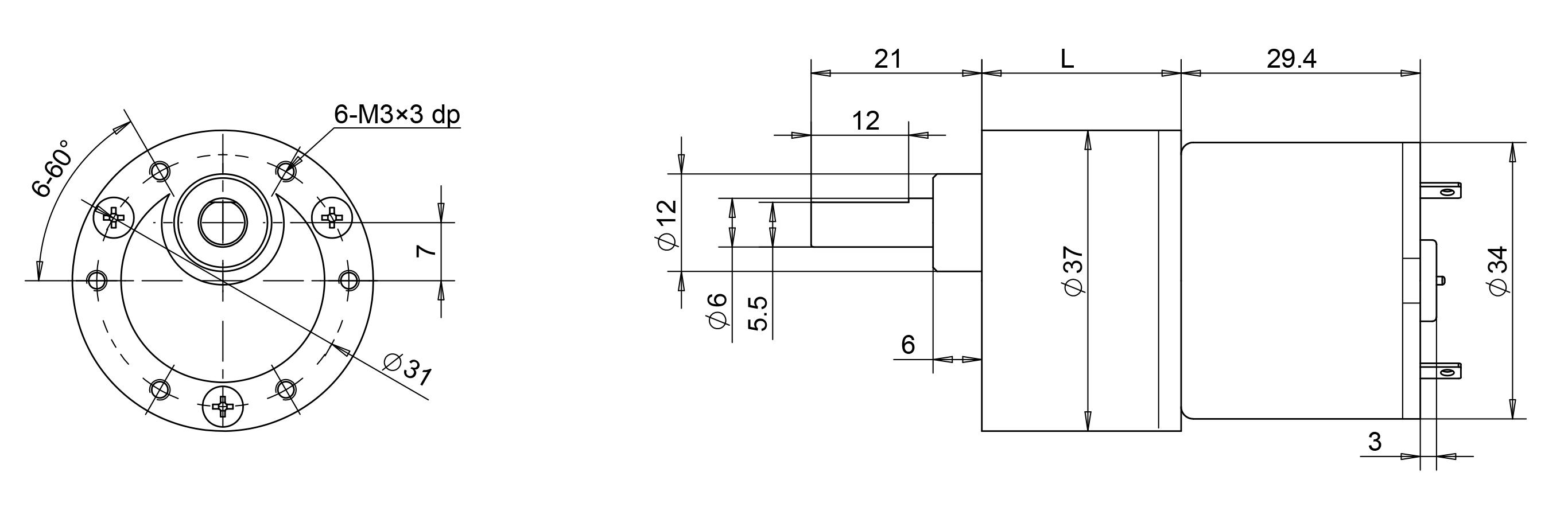 gearmotor drawing