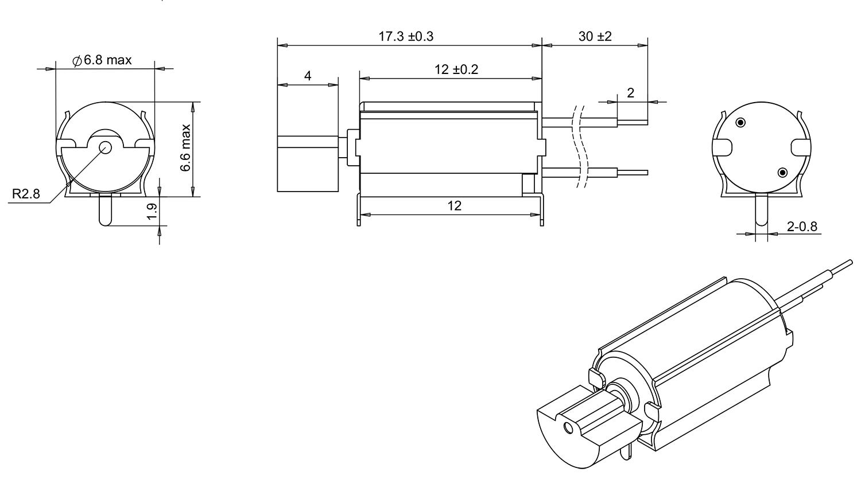 6mm vibration motor with bracket