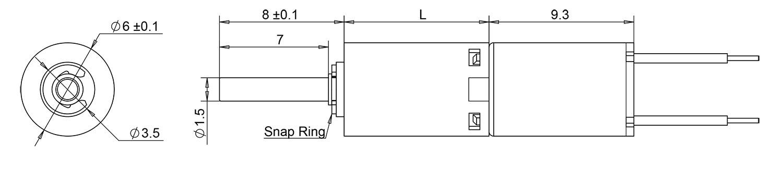 6mm gear motor