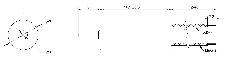 716 coreless dc motor