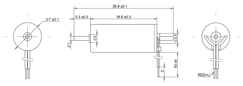 716 double shaft coreless dc motor