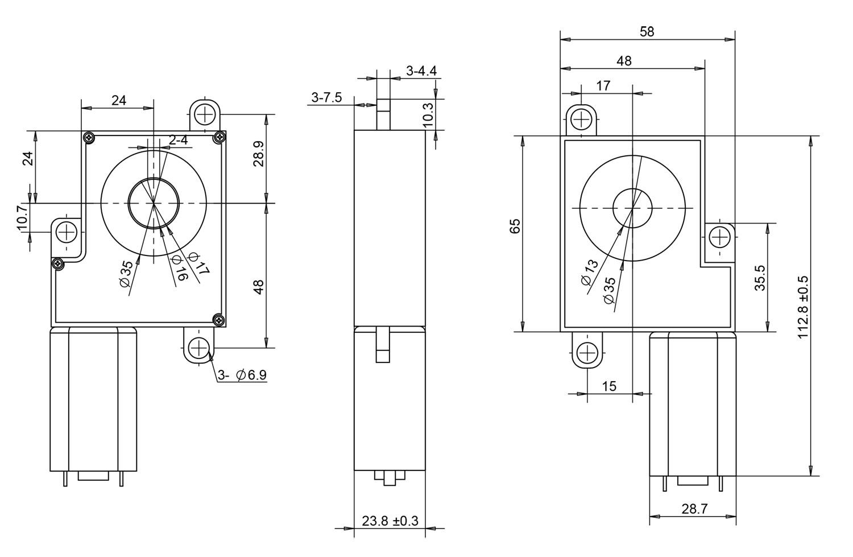 Automatic door lock gear motor