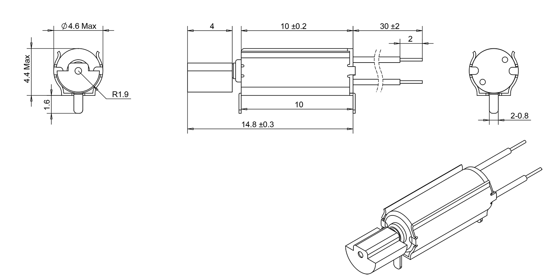 4mm vibration motor