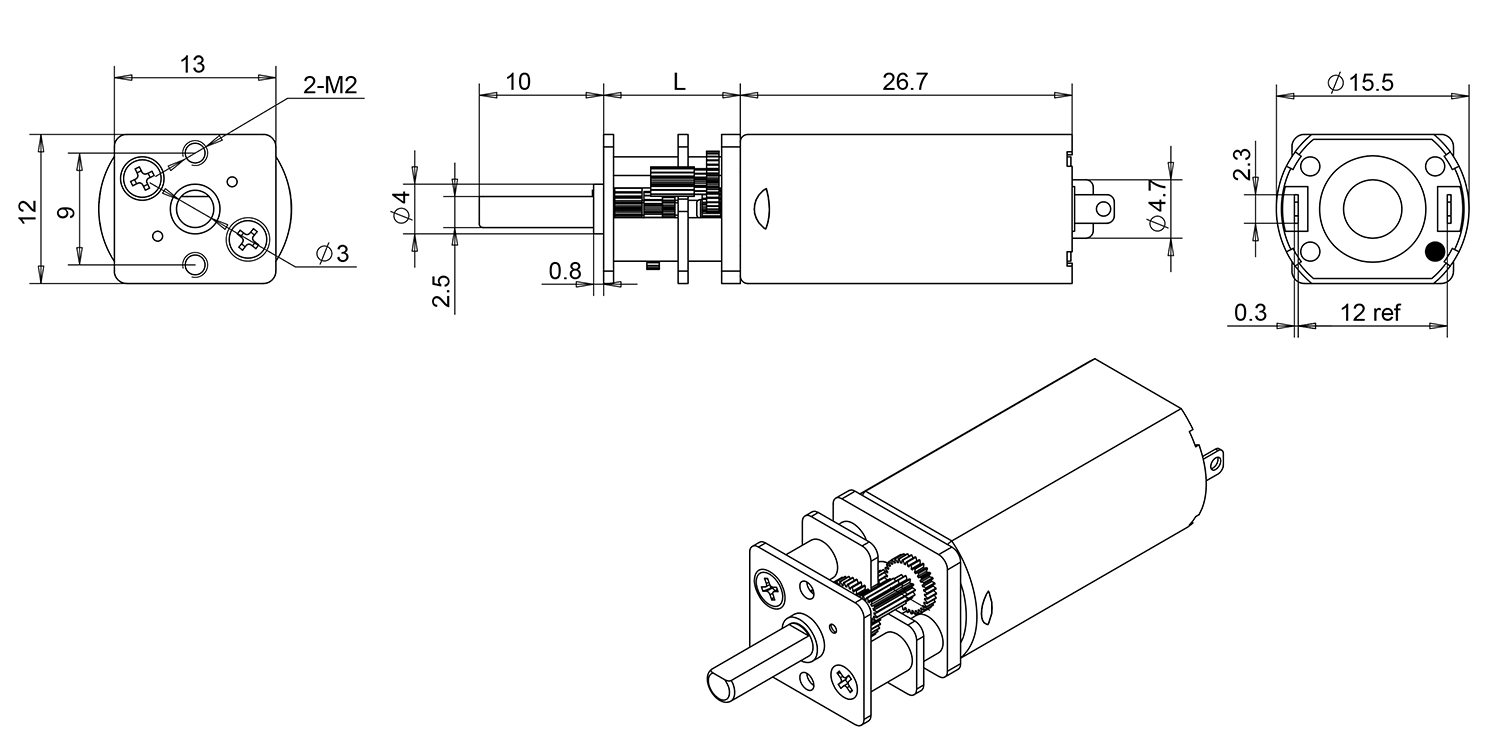 Small gear motors